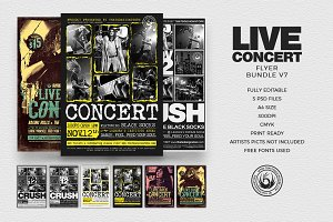 Concert Live Flyer Bundle V7