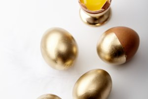 Eggs painted golden
