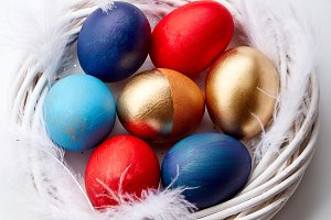 Painted eggs on Easter holiday