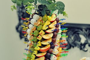 fruits on wedding reception