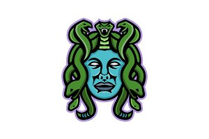 Medusa Greek God Mascot