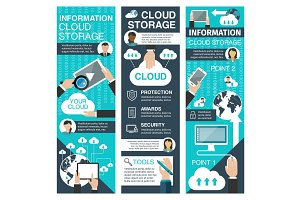 Online storage and cloud technologies banner