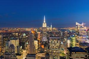 New York City Manhattan skyline panorama, USA