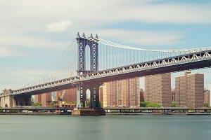 Manhattan Bridge at noon, New York, USA