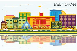 Belmopan Skyline with Color Building