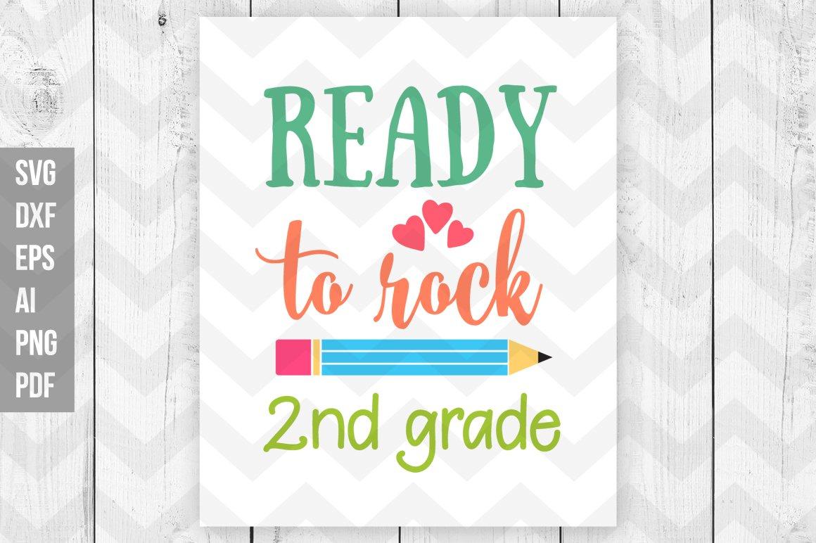 Ready To Rock 2nd Grade Svg Pre Designed Illustrator Graphics Creative Market
