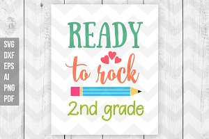 Ready to rock 2nd grade SVG