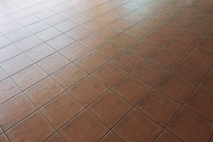 Red Tile flooring, seamless texture material background