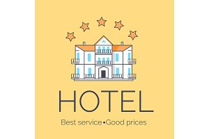 Hotel Five Stars Icon Vector Illustration