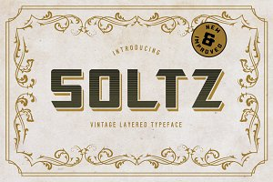 Soltz Vintage Layered Typeface