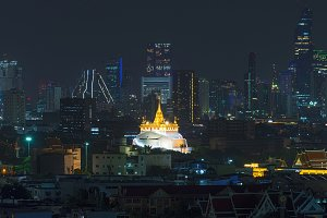 The Golden Mount in Bangkok city, Thailand