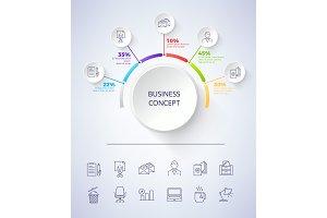 Business Concept Scheme on Vector Illustration