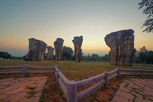 Mor Hin Khao Rocks in Chaiyaphum district, Thailand