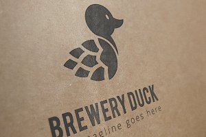 brewery duck logo template