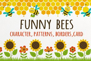 funny bees set