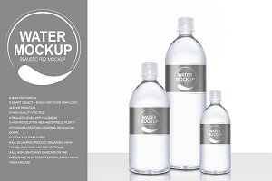 Drinking Water Plastic Bottle Mockup