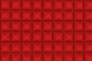 Pyramid geometric pattern, 3D rendering illustration