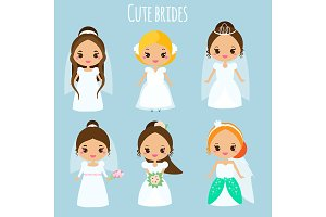 Cute kawaii brides