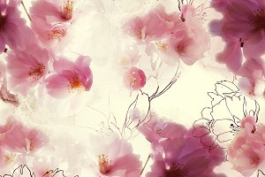blossom cherry seamless | JPEG