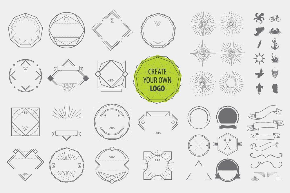 Create your own logo (Illustrator) ~ Logo Templates
