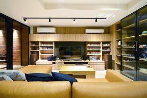 Loft style luxury modern living interior and decoration, interior design