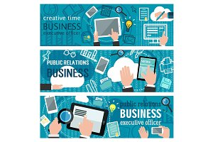 Internet business vector banner