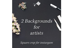 2 Black Backgrounds for Artists