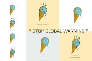 Earth Cream Cone Save The Planet