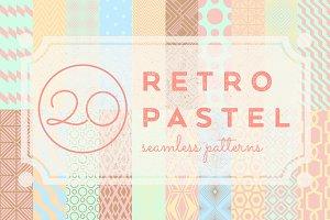 Vintage Pastel Geometric Seamles Set