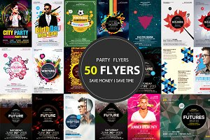 50 Party Flyers Bundle