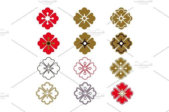 Japanese pattern elements