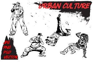 Urban culture. Hip-hop & break-dance