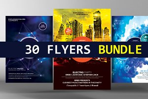 30 Party Flyers Bundle