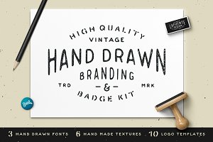 Hand Drawn Branding & Badge Kit