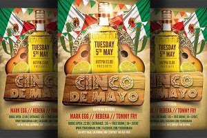 Cinco De Mayo Flyer Template 2