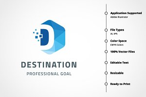 Destination - Letter D Logo