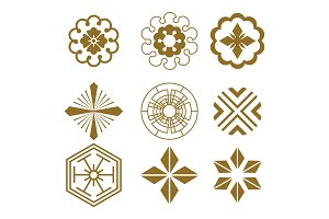 Japanese pattern elements