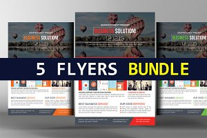 5 Corporate Agency Flyers Ads Bundle