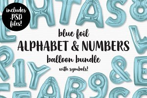 Blue Foil Balloon Pack Bundle