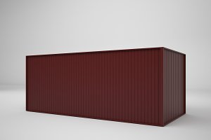 3D Rendering Shipping Container isolated on white background, illustration, mock up