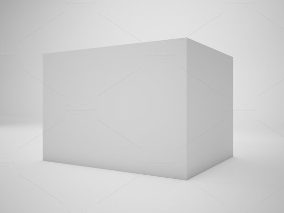 3D Rendering white box isolated on white background, illustration, mock up