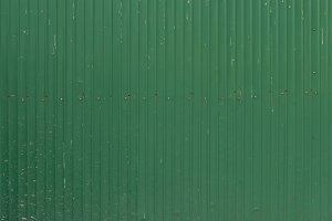 A green corrugated iron metal, Zinc wall, background