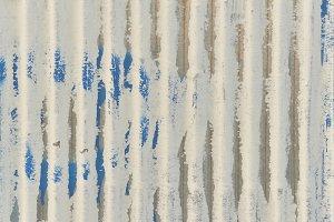 A white corrugated iron metal, Zinc wall, background