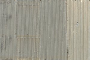 A rusty corrugated iron metal, Zinc wall, background