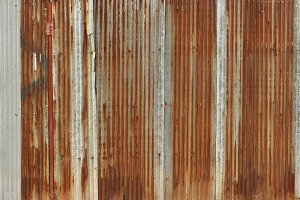 rusty corrugated iron metal, Zinc wall, background
