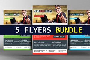 5 Business Analyst Flyers Bundle