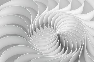 3d rendering Curved abstract on white background, illustration