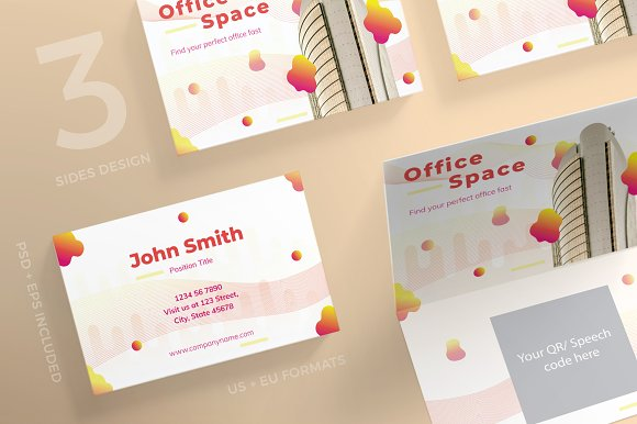 Business Cards Office Space Business Card Templates Creative