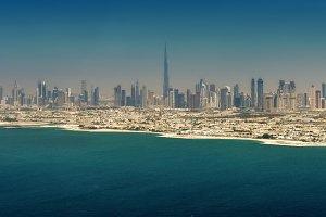 Panoramic view of Dubai