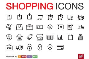 Shopping & E-Commerce Icons
